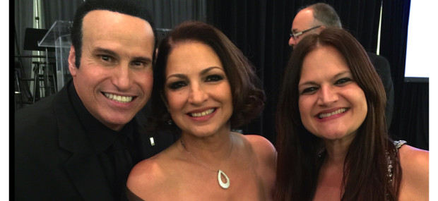 Willy Perez-Feria, the great Gloria Estefan and Rachel Perry Taylor at The Latin Songwriters Hall Of Fame 2015 LA MUSA Awards, October 17, 2014.